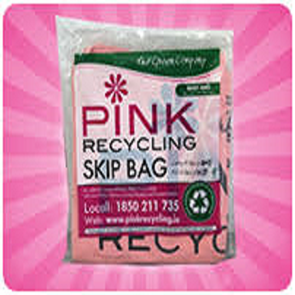 """Picture of PINK """"BABY"""" SKIP BAG 1/2 TON"""