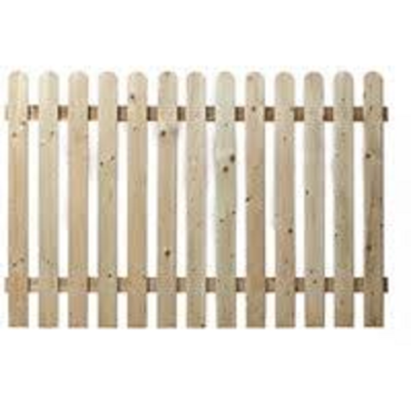 Picture of 1.8MT X 1.8MT ROUND TOP  PICKET FENCE PANEL
