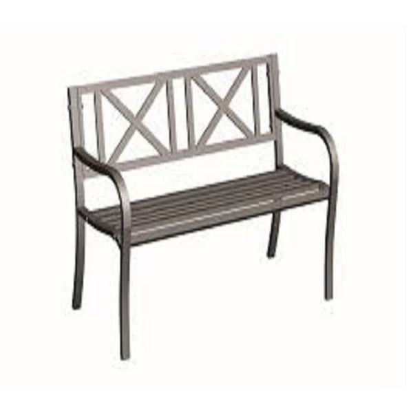 Picture of SOFT CROSS STEEL PARK BENCH