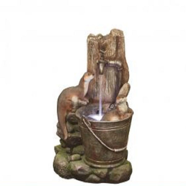 Picture of PLAYFUL OTTERS WATER FEATURE - 56CM