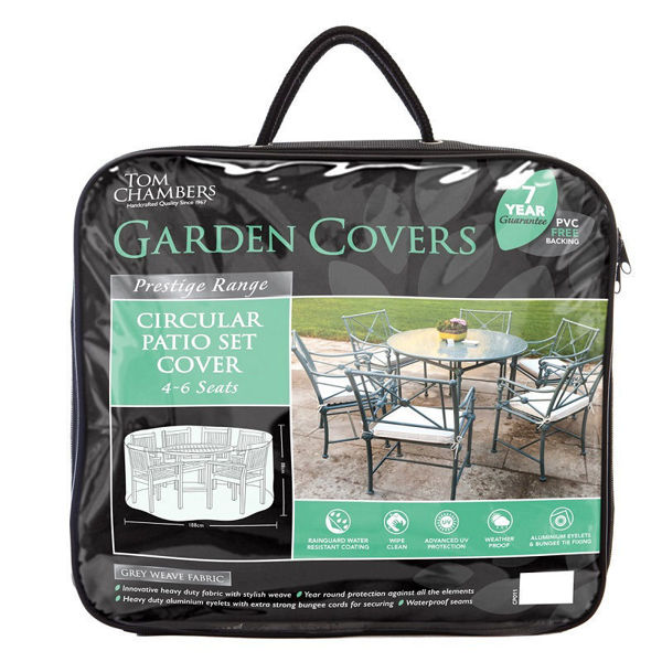 Picture of CIRCULAR PATIO SET COVER- PRESTIGE GREY 4/6 S