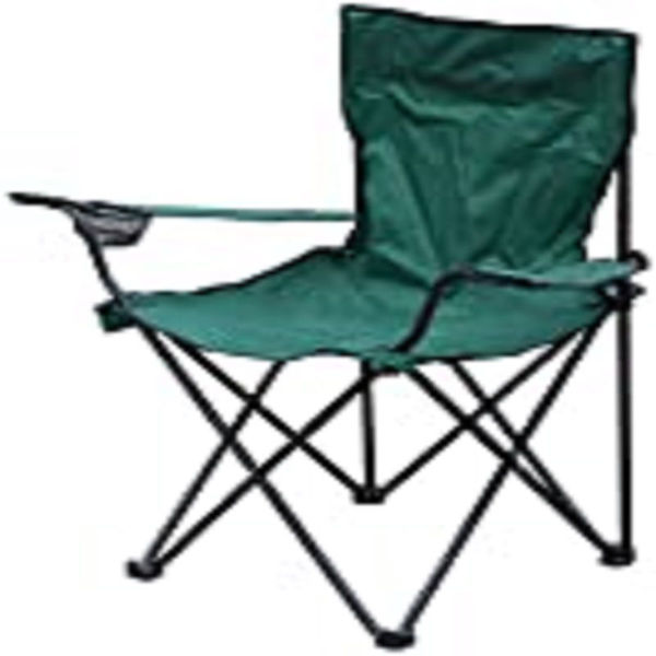 Picture of CANVAS CHAIR WITH ARMS - GREEN