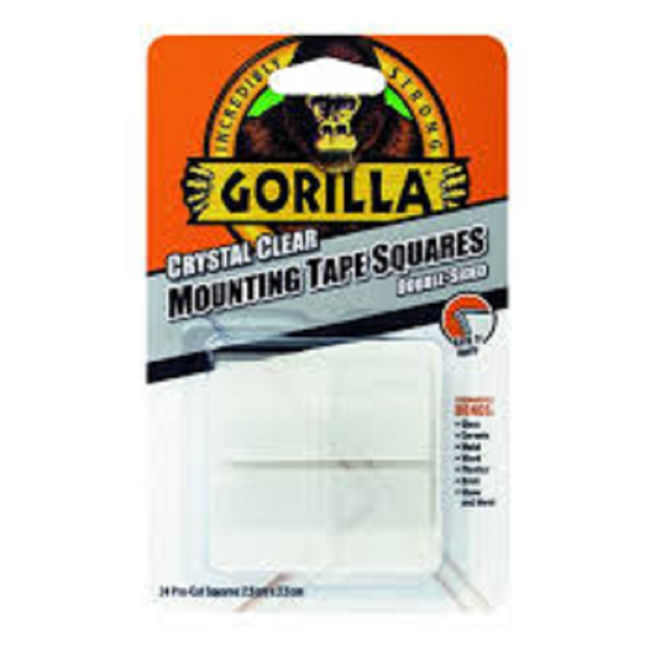 Picture of GORILLA MOUNTING TAPE 2.5CM SQUARES CLEAR