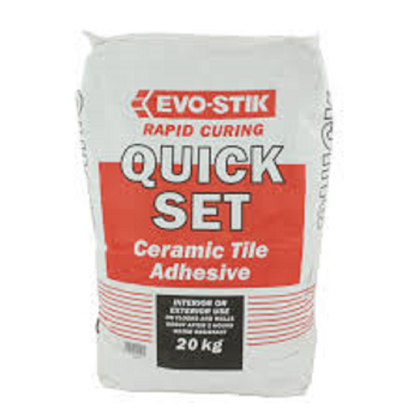 Picture of 20KG EVO STIK QUICK SET TILE ADHESIVE GREY