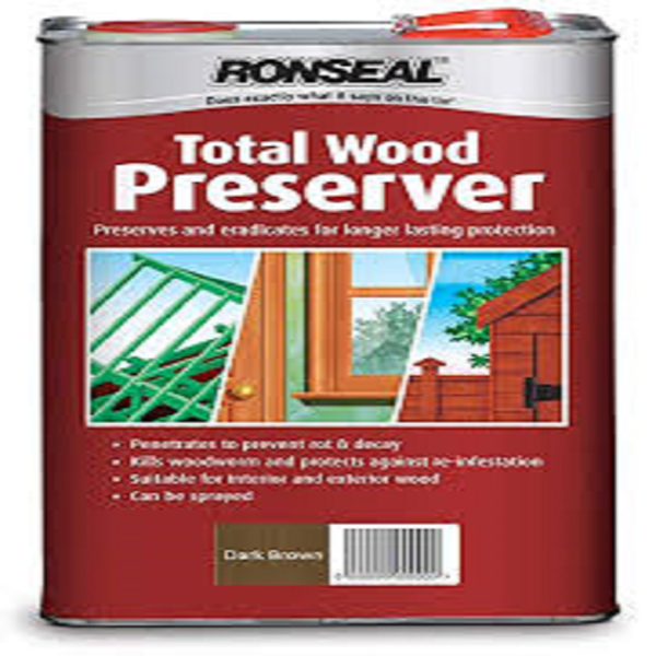 Picture of 2.5 LTR RONSEAL TOTAL WOOD PRESERVER D/BROWN