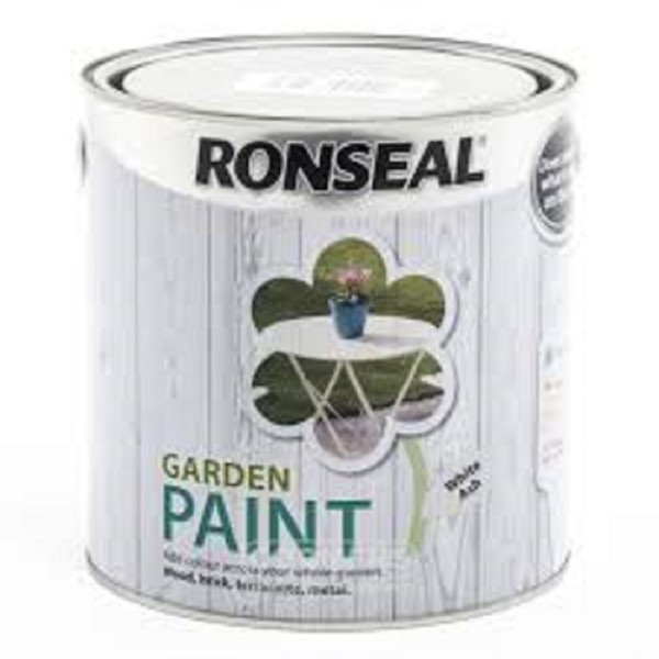 Picture of 2.5LTR  RONSEAL GARDEN PAINT  WHITE ASH