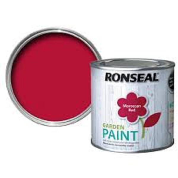 Picture of 250ML RONSEAL GARDEN PAINT MOROCCAN RED