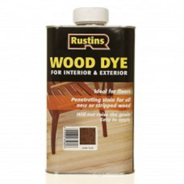 Picture of 250ML RUSTINS WOOD DYE DARK OAK