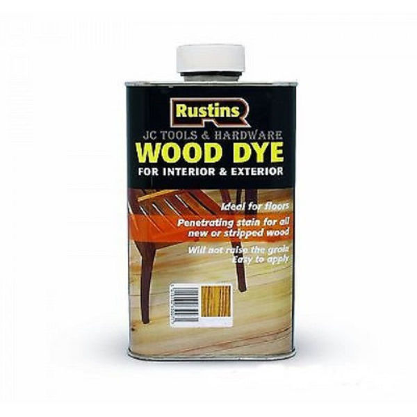 Picture of 250ML RUSTINS WOOD DYE MEDIUM OAK