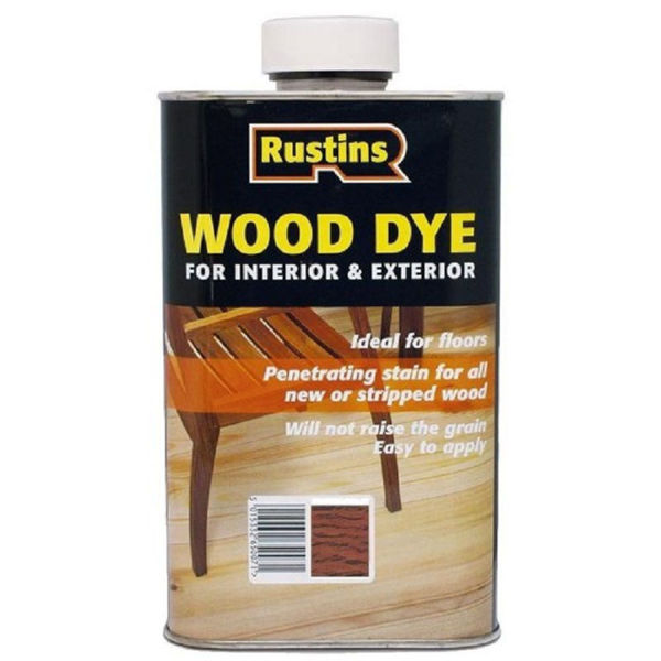 Picture of 250ML RUSTINS WOOD DYE RED MAHOGANY