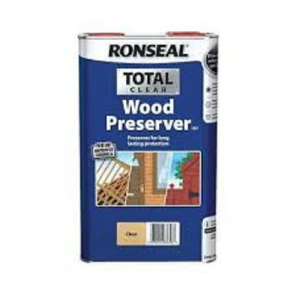 Picture of 5 LITRE RONSEAL TOTAL WOOD PRESERVER CLEAR