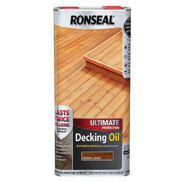 Picture of 5LTR RONSEAL ULTIMATE DECKING OIL NATURAL CEDAR