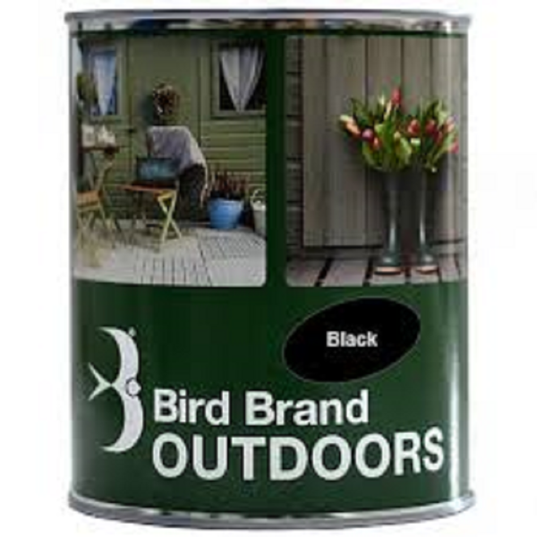 Picture of BIRD BRAND OUTDOOR PAINT BLACK 1L