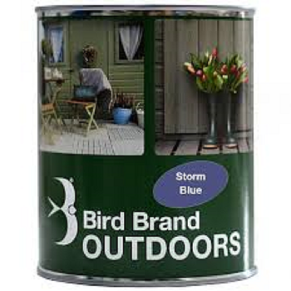 Picture of BIRD BRAND OUTDOOR PAINT STORM BLUE 1L