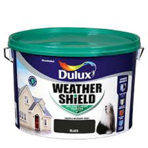 Picture of 10 LITRE DULUX WEATHERSHIELD BLACK
