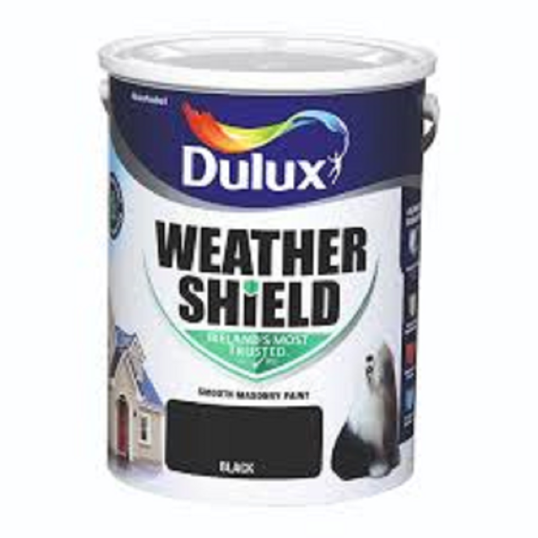 Picture of 5LTR DULUX WEATHERSHIELD BLACK