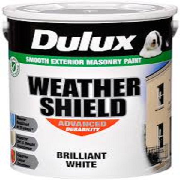 Picture of 5LTR DULUX WEATHERSHIELD BRILLIANT WHITE