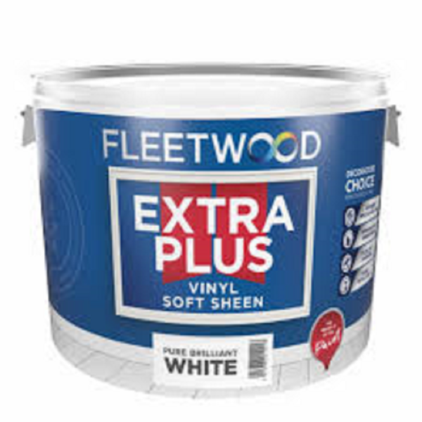Picture of 10 LITRE FLEETWOOD EXTRA PLUS  SOFT SHEEN WHITE