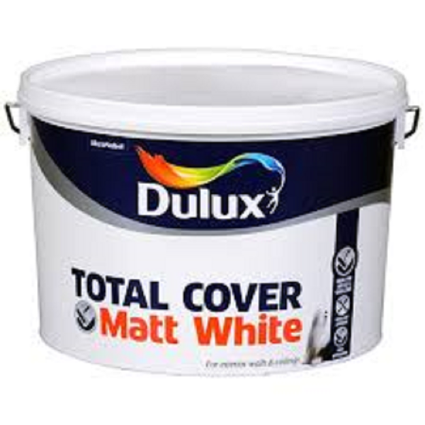 Picture of 10 LTR DULUX  TOTAL COVER MATT WHITE
