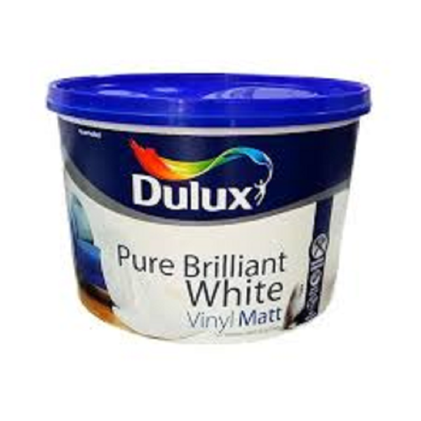 Picture of 10 LTR DULUX VINYL MATT PURE BRILLIANT WHITE