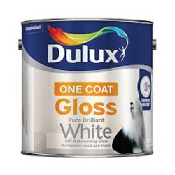 Picture of 2.5 LTR DULUX  ONE COAT GLOSS WHITE