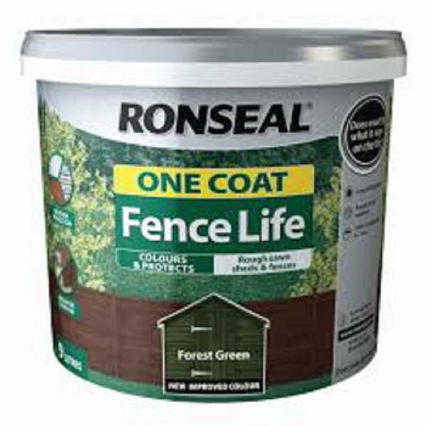 Picture of 9LTR  RONSEAL FENCE LIFE FOREST GREEN