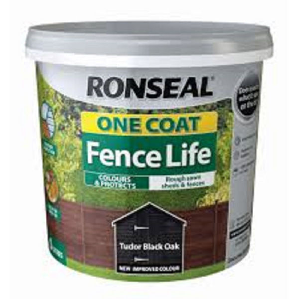 Picture of 9LTR  RONSEAL FENCE LIFE TUDOR BLACK ONE COAT