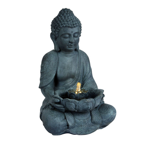 Picture of LED SITTING BUDDHA WATER FEATURE 45CM