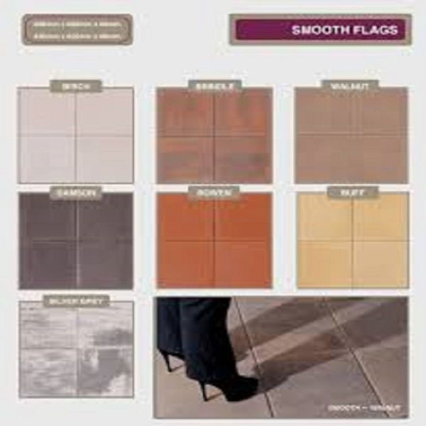 Picture of B/STONE FLAG 400 X 400 X 40MM SMOOTH DAMSON