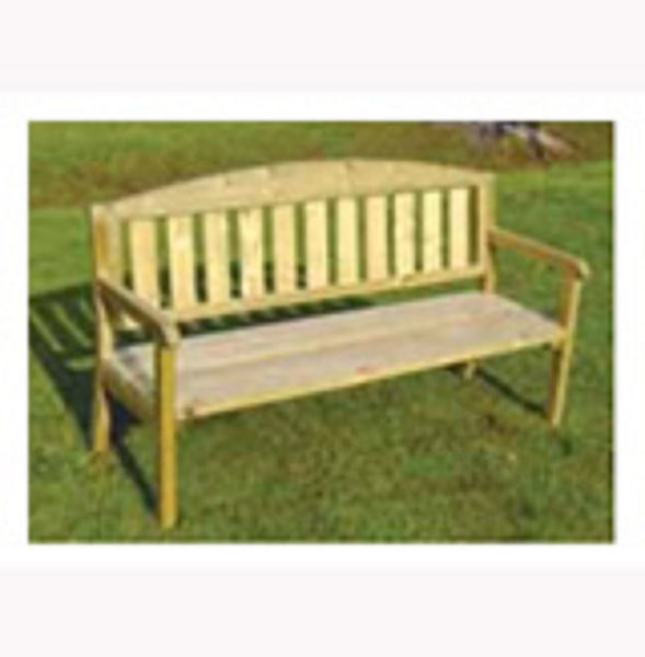 Picture of TRIPLE WOODEN GARDEN BENCH