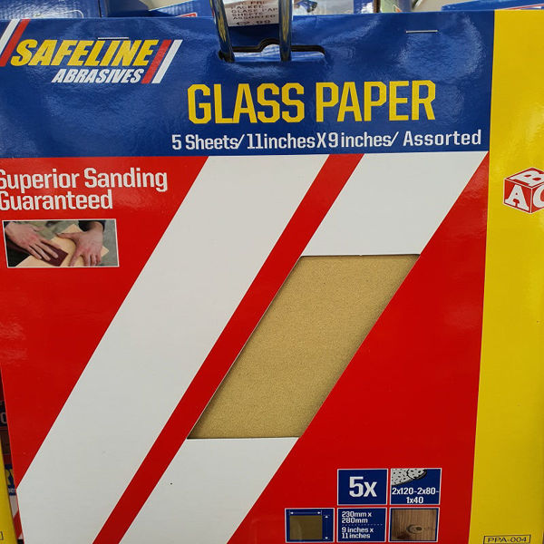 Picture of ABC PRE- PACKED GLASS PAPER SHEETS ASSORTED