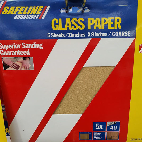 Picture of ABC PRE- PACKED GLASS PAPER SHEETS COARSE