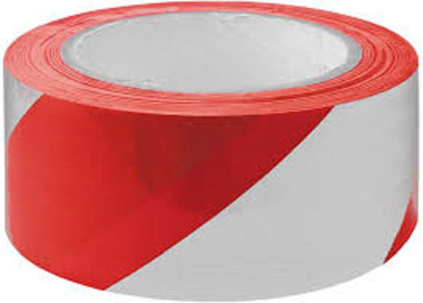 Picture of HAZARD WARNING TAPE (RED + WHITE)