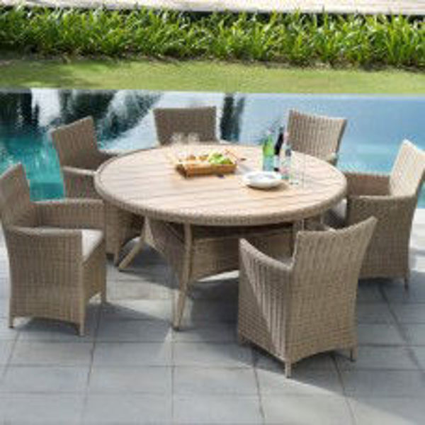 Picture of MARTINIQUE-DELUX 156CM RATTAN ROUND DINING SET