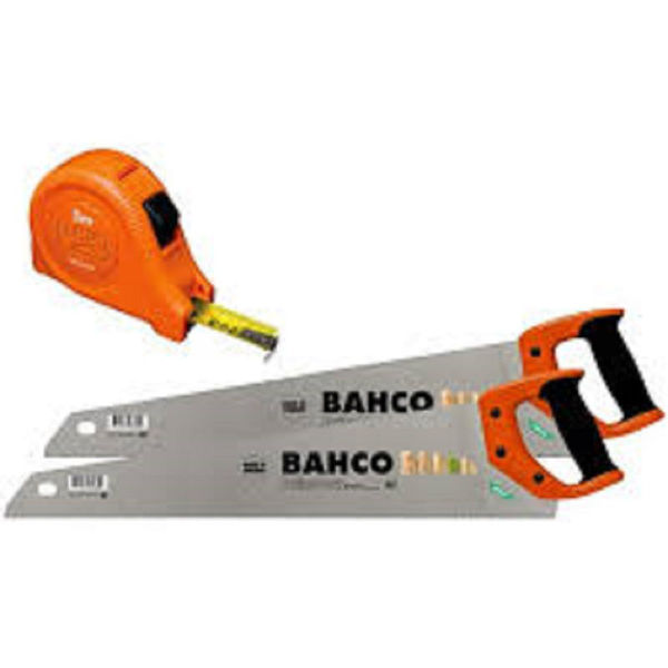 Picture of BAHCO TWIN PACK SAW SET COMES WITH  5MT TAPE FREE