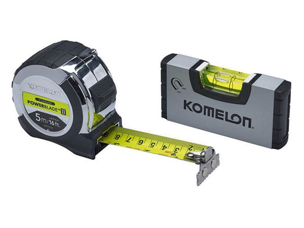 Picture of KOMELON 5M 16FT TAPE WITH MINI LEVEL