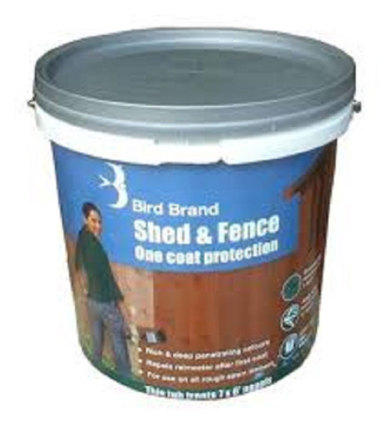 Picture of BIRD BRAND SHED & FENCE 5LT  BLACK