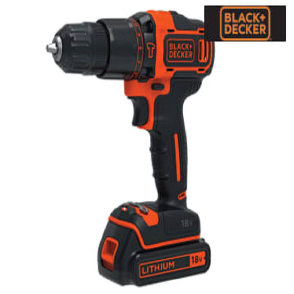Picture of BLACK & DECKER 18V LI-ION COMBI DRILL 2 BATTERIES