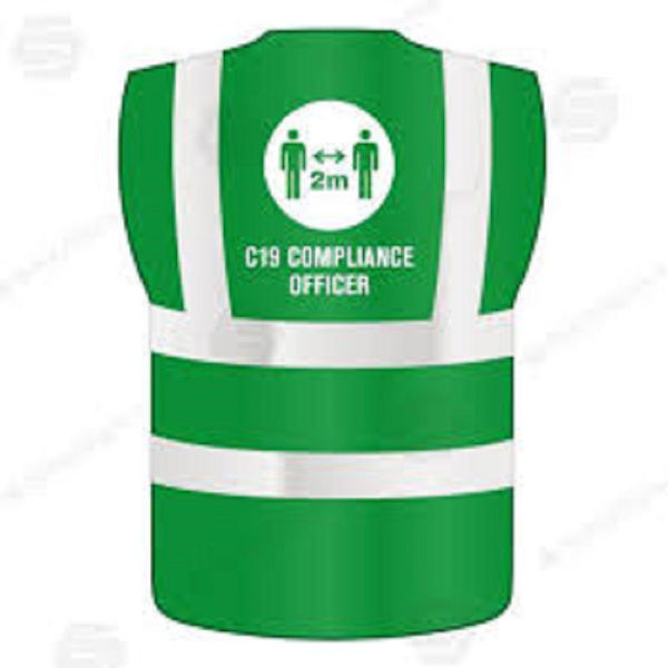 Picture of COVID-19 COMPLIANCE OFFICER VEST LARGE - XL GREEN