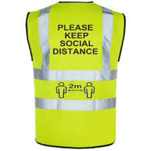 Picture of COVID-19 VEST LARGE - XL YELLOW