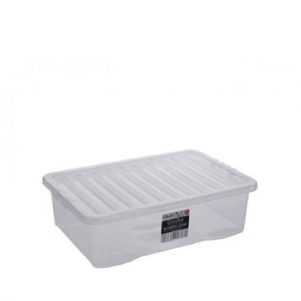 Picture of Wham Crystal Underbed Storage Box & Lid Clear - 32ltr