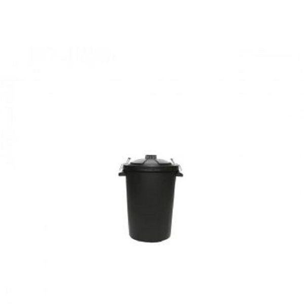 Picture of Black PVC Dustbin with Wire Clips - 85ltr