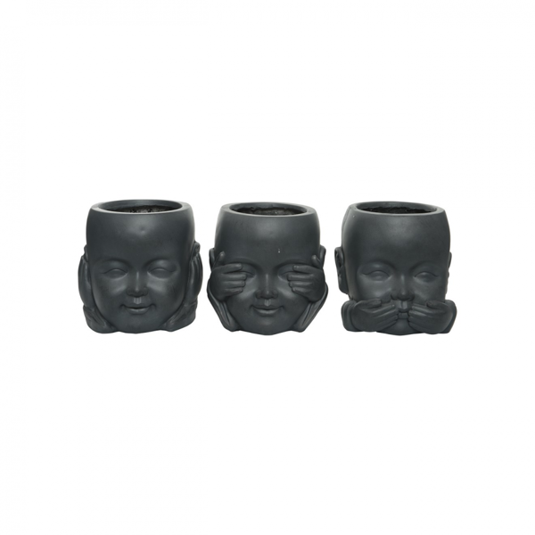 Picture of Fibreclay Monk Planter - Set of 3 - 24cm