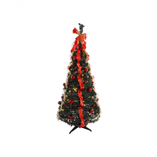 Picture of Pre-Lit Holly Dressed Pop-Up Tree - 6ft