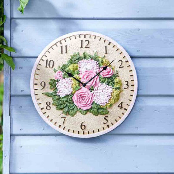 "Picture of FLORAL 12"" WALL CLOCK"