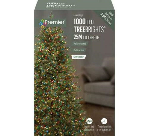 Picture of 1000 LED MULTI-ACTION TREEBRIGHTS WITH TIMER - MULTI COLOURED