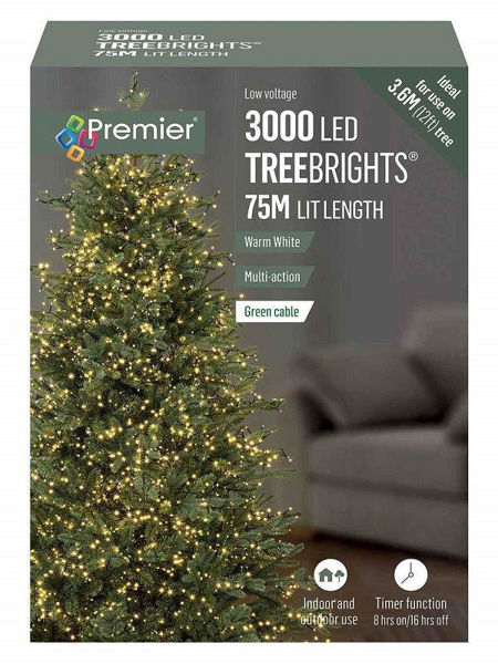 Picture of 3000 LED MULTI ACTION TREEBRIGHTS WITH TIMEER - WARM WHITE