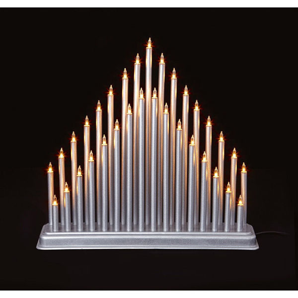 Picture of 33 LIGHT CANDLE BRIDGE TOWER - SILVER