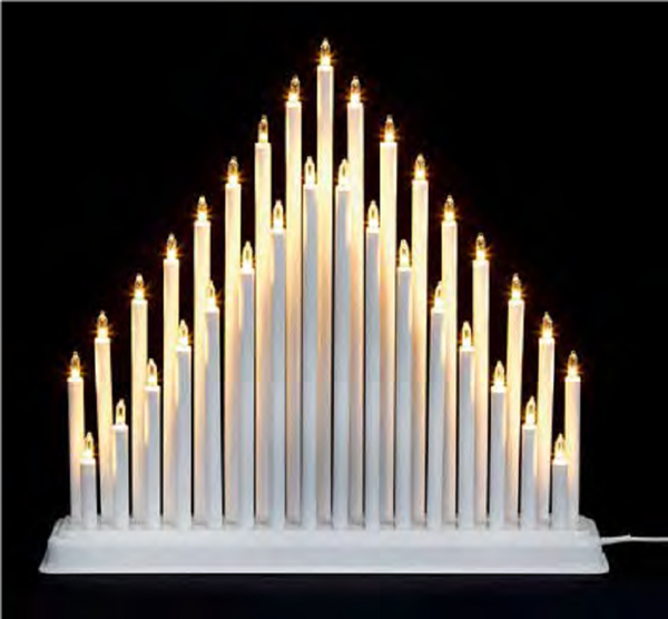 Picture of 33 LIGHT CANDLE BRIDGE TOWER - WHITE