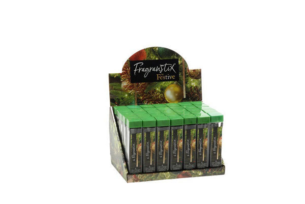 Picture of SCENTED CHRISTMAS TREE HANGING ORNAMENT STICKS FRAGANSTIX - FIRESIDE SCENT